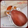 fashion natural red jasper stone jewelry vintage european style pendant