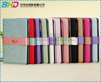 Luxury Silk Chinese Dragon Pattern Wallet Leather Mini Case for Ipad Mini Smart Cover