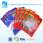 Custom clear plastic food packaging bag for snack