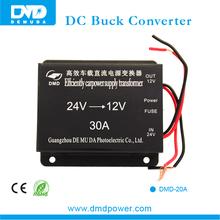 haute puissance 30a dc tension convertisseur 24 12v utilisation de la voiture