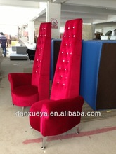 Red Fabric Hotel chair High end sofa chair