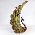 De estilo europeo resina peafowl pavo real artesanías de decoración del hogar de pavo real( xh194)