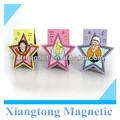 Star projeto da forma personalizada personalised_magnetic_bookmark/papel personalizado marcador magnético dobrar