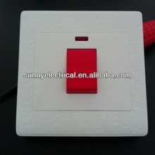 Professional flower engraved electric water heater switch