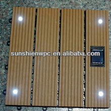 Waterproof WPC outdoor solar DIY decking tiles