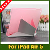 Newest PU Leather Case Smart Covers Stand for Apple iPad Air 5