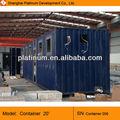 2013 portátil cabine pré-fabricada 20ft escritório recipiente acabado para venda