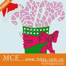 New Christmas Rhinestone Design Santa Baby Hotfix Transfer Foksy