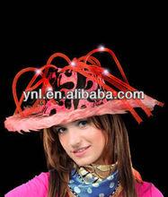 Carnival Party Accessories/Head Decoration LED UP Furry Pimp Hat