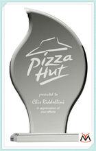pizza store acrylic trophy,acrylic trophy award,crystal trophy display ward