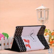 Folio stand cute leather case for ipad mini 2