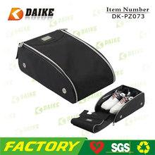 Reusable Customized Polyester Zipper Folding golf shoe bag DK-PZ073