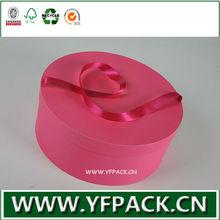 parfum cardboard round box with ribbon