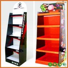 Trendy folding metal display shelf