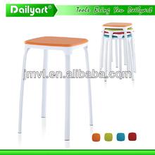 (V052007) Colourful kitchen living room short wooden stool