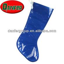 Blue transparent Christmas Stocking bag for dog treats