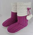 caliente de la moda modaparecen bastante rojo señoras hilados de punto interior botas zapatillas bootie