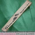 Ycw-13098 personalizado china tecido de seda de etiquetas e tags