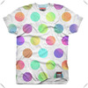 fashionable Poly-cotton sublimation printing colorful dot T-Shirt for woman