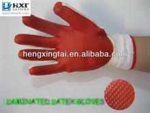 Laminated film gloves rubber palm gloves