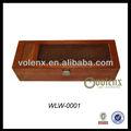 Varnished sólido de madera de pino tallado caja de vino de madera para la venta ( SGS & BV )