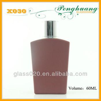 Round aluminum container of perfume with flat cap