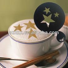 9cm caffè stencil stella forma stencil di plastica