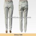 o mais recente estilo de cor sólida chino calças para homens