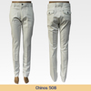 Latest style solid color chino pants for men