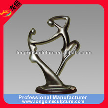 Fashion Abstract Modern Figure Family Love Mirror Polished Stainless Steel Sculpture for Hotle--Stainless Steel Abstract Statue