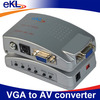 VGA TO S-VIDEO 3 RCA COMPOSITE AV TV OUT CONVERTER ADAPTER box