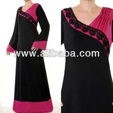 Wholesale Muslim Islamic Long Sleeves Abaya Maxi Dress