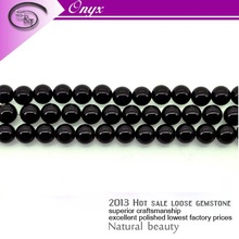 2013 Best sale quality products natural 10mm perfect round shape gemstone natural handmade jewelry black agate necklace
