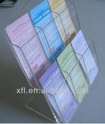 High transparency acrylic data/magazine/newspaper/book/brochure/leaflet rack, advertising rack, document shelf