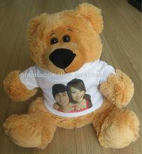 "13"" teddy Bear with sublimation T-shirt"