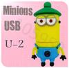 Hot sale Silicone Cartoon Despicable Me 2 Minions Portable U Disk Pendrive 256MB 4GB 8GB 16GB 32GB 64GB USB 2.0 USB Flash Drive