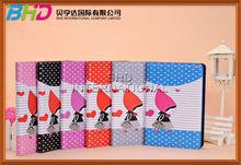 Cute cartoon Little Red Hood Girl Leather Flip Wallet Case For Apple ipad mini