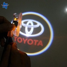 Led car door logo laser projector light for toyota