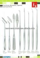 Cone Knifes, Myomatome, Trigeminal & Tonsil Knife