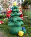 Led al aire libre pvc árbol de navidad/decoración de navidad