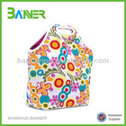 colourful printing neoprene lunch bag for school