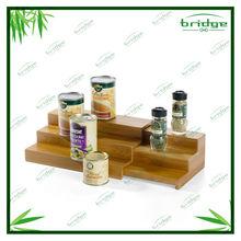 3 tier bamboo expanding kitchen stroage shelf