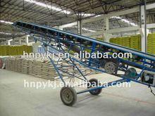 Belt conveyor for front loading dump truck