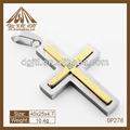 moda de alta qualidade cruz jesus charm cor de ouro