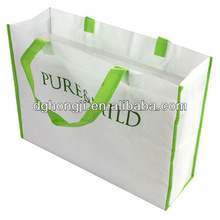 pp non woven shopping bag with pvc pipe handle