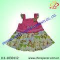 2014 novos produtos 100% algodão lovery meninas vestidos de bebê e aniversário vestido