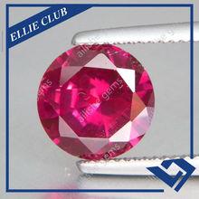 round diamond cut synthetic corundum 5# ruby