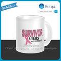 Sh622 sobrevivente do cancro da mama 5 anos e contando caneca SURVIVOR pink ribbon caneca