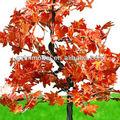 Novo cenário de ferro fio vermelho/verde/rosa/folhas amarelas fio do ferro da árvore de bordo modelo
