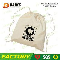 drawstring bag, cotton drawstring bag, organic cotton drawstring shoe bag DKMSB-885